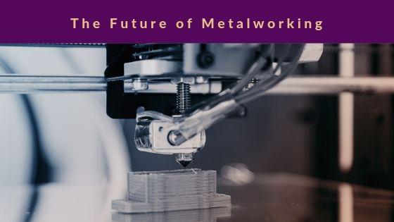 A machine makes cuts into a metal sheet.