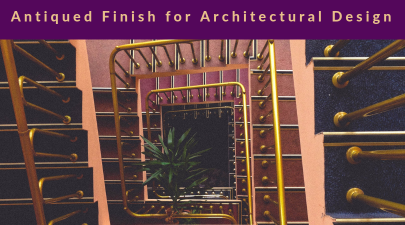 Antiqued Finish for Architectural Design title photo with vintage spiral staircase