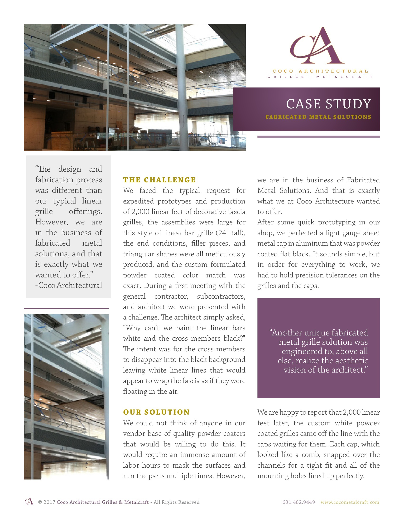 Custom Fabricated Metal Solutions Case Study