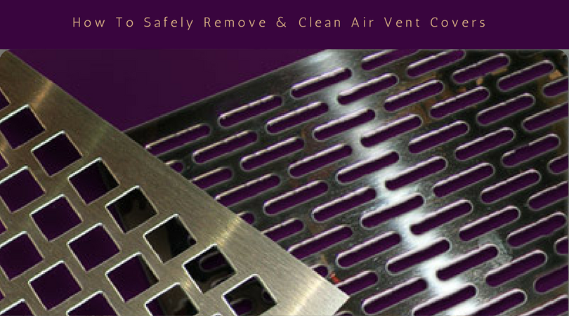 how to safely remove air vent covers