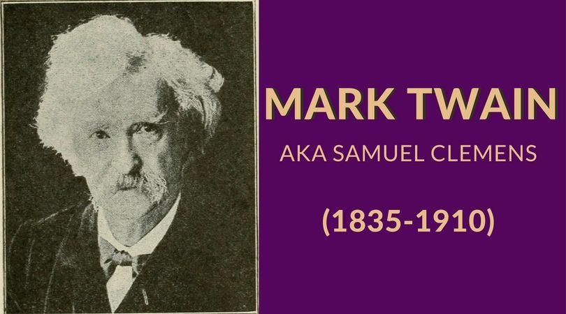 Mark Twain aka Samuel Clemens (1835-1910)