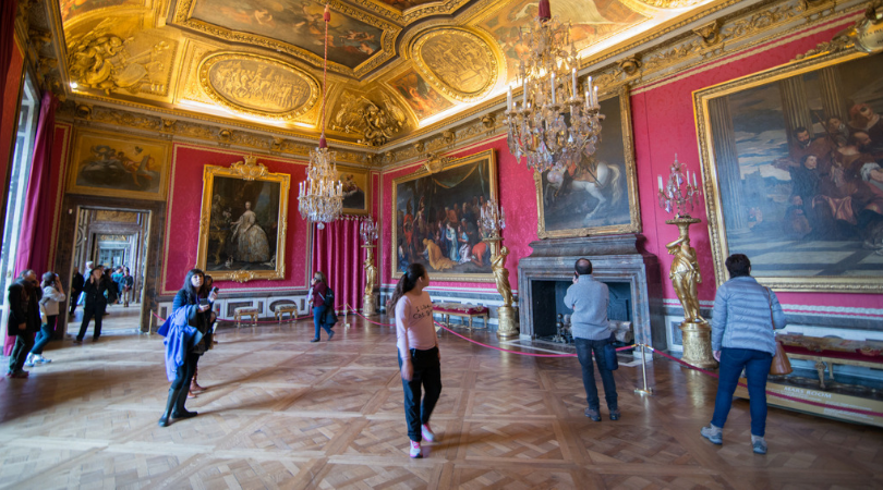 example of parquet flooring in the Palace of Versailles