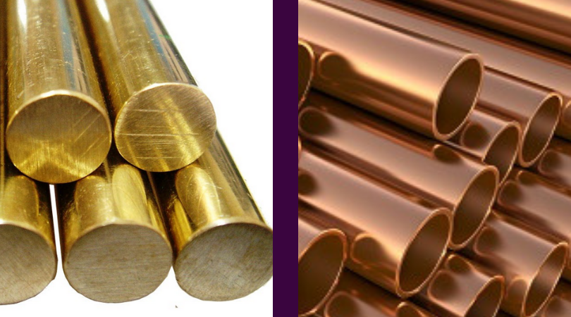 brass and bronze pipes