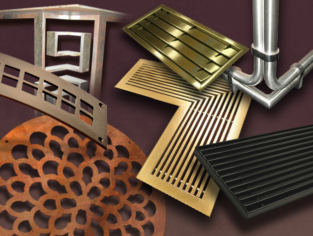 image of various Coco Architectural samples of custom metal grilles