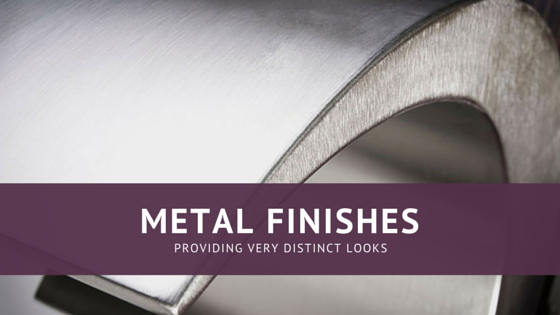 Image of a curved metal finish